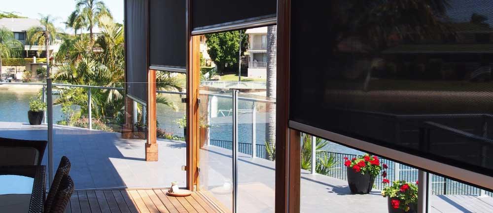 Multiple sliding retractable screens for sun shade